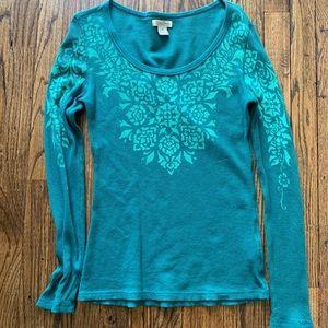 Lucky Brand Long Sleeve Woman's Shirt Medium